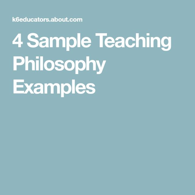 4 Sample Teaching Philosophy Examples