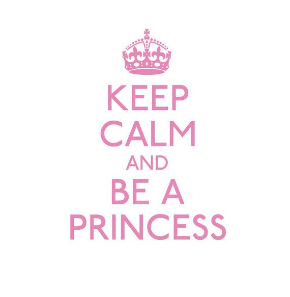 Princess Vinyl Wall Decal Keep Calm And Be A Princess Wall Decal Quote for Girls Room Play Room Girl Baby Nursery Wall Decor 29Hx22W FS334