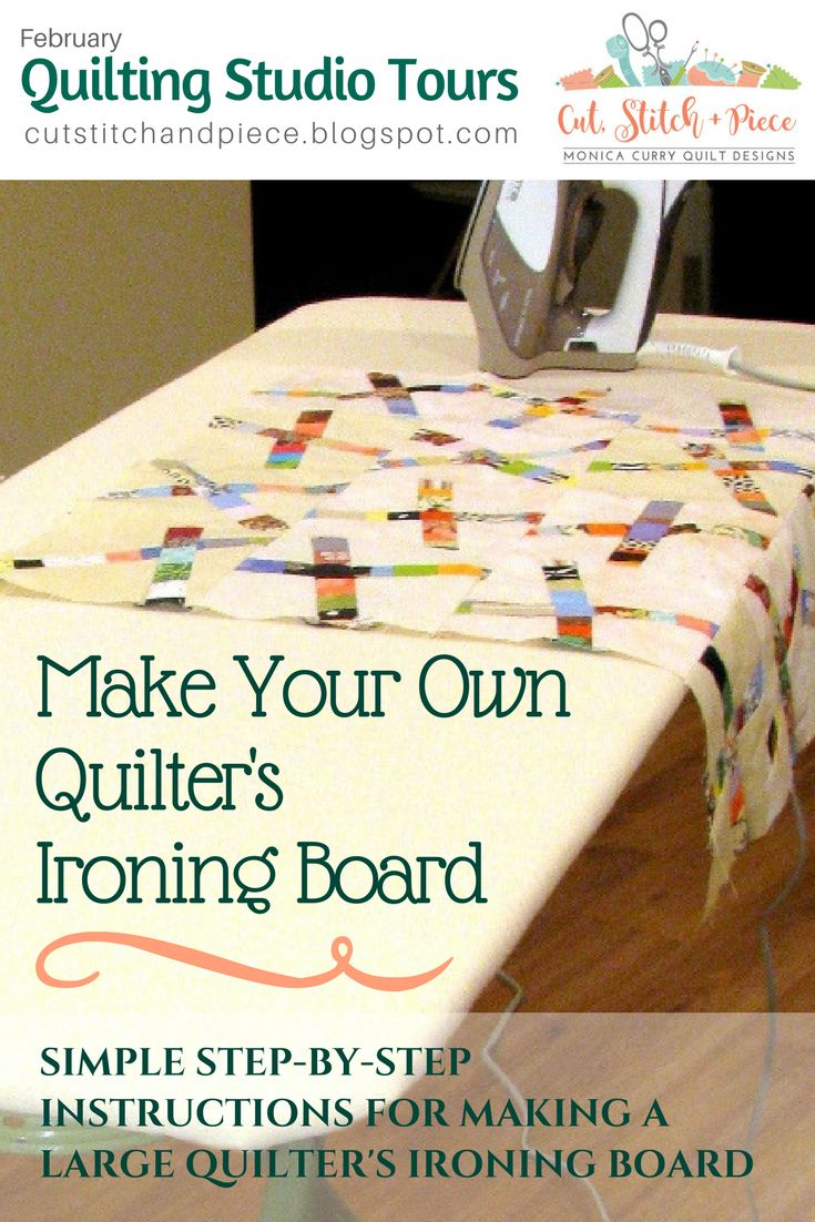 DIY großen Quilter Bügelbrett   – Craft studio