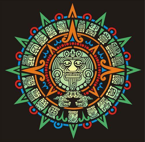 Aztec Sun Calender Aztec Stencil Designs from Stencil Kingdom