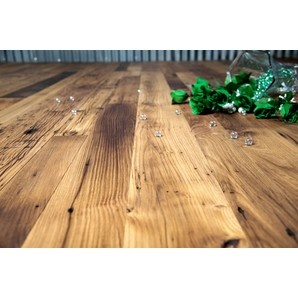 Distressed antique oak flooring by The Woods Company #flooring #reclaimed #woood