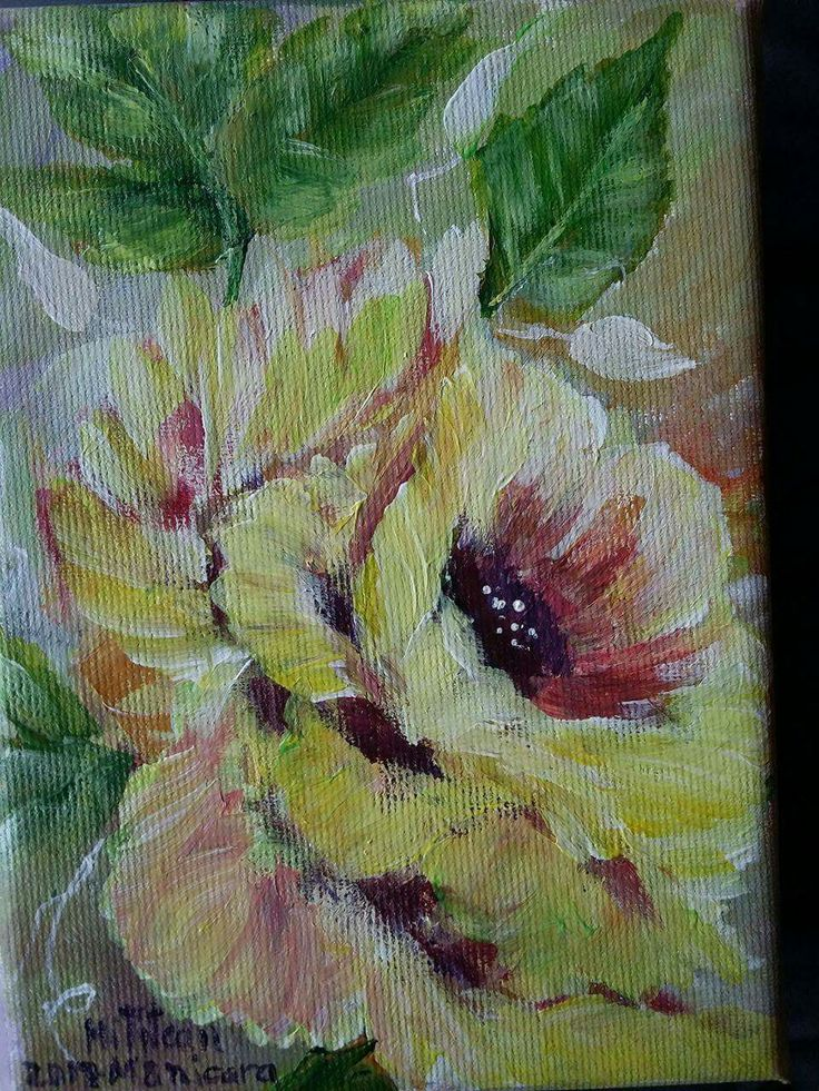Trandafir(40€) Tablou pictat pe panza