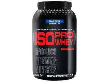 Whey Protein Isolado Iso Pro Whey Morango 900g - Probiótica