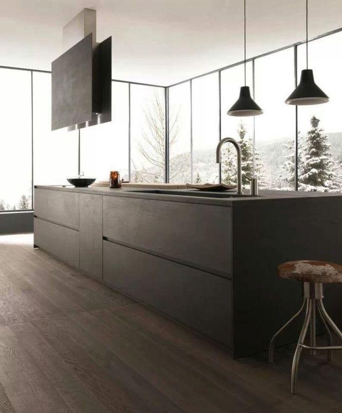 Moderne küchen mit kochinsel grau  Die besten 25+ Graue kücheninsel Ideen auf Pinterest | Kücheninsel ...