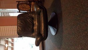 2 Genuine Leather Swivel Chairs Owen Sound Ontario image 1