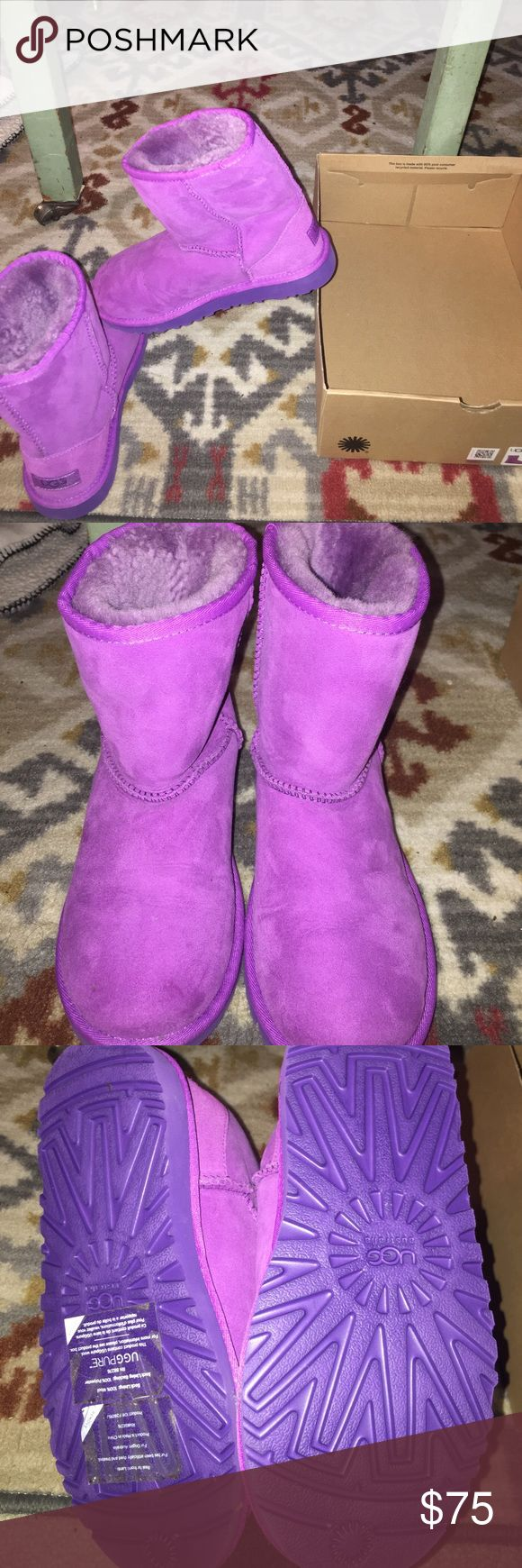 NWB PURPLE UGGS Brand new purple uggs! Fun color and perfect for spring ! Size 4 in kids so really like a 5/6 women's UGG Shoes Winter & Rain Boots