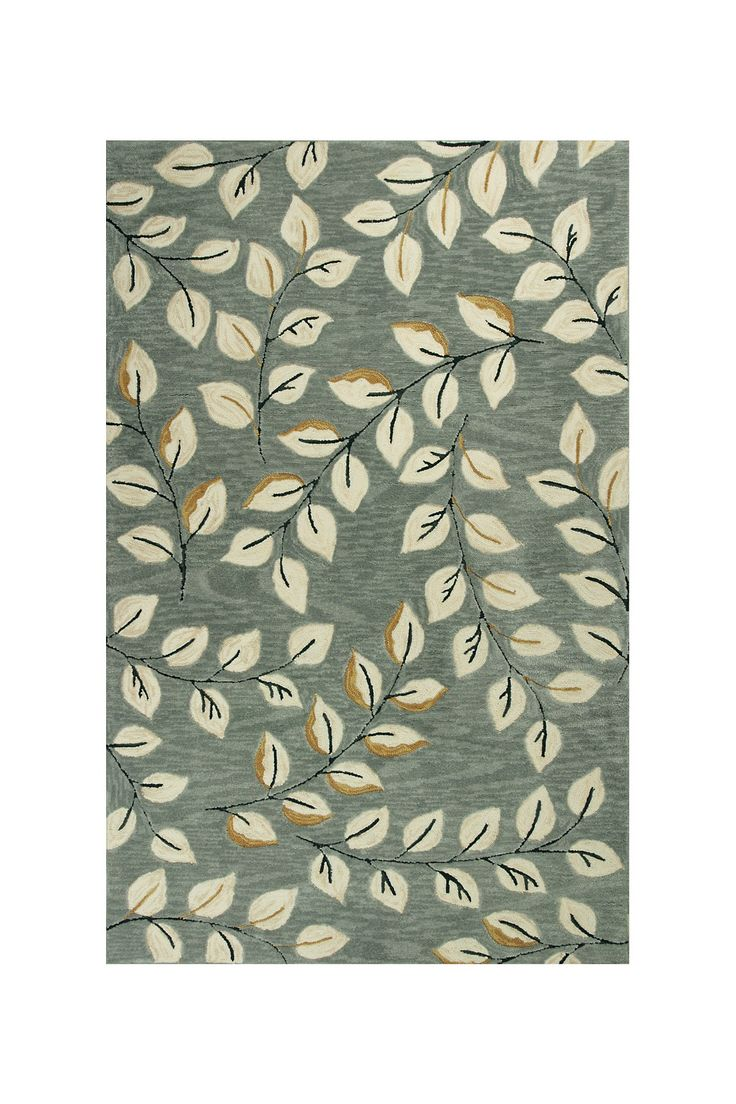 Leaves Rug Grey Kas 5x8 Or 8x10 For The Home
