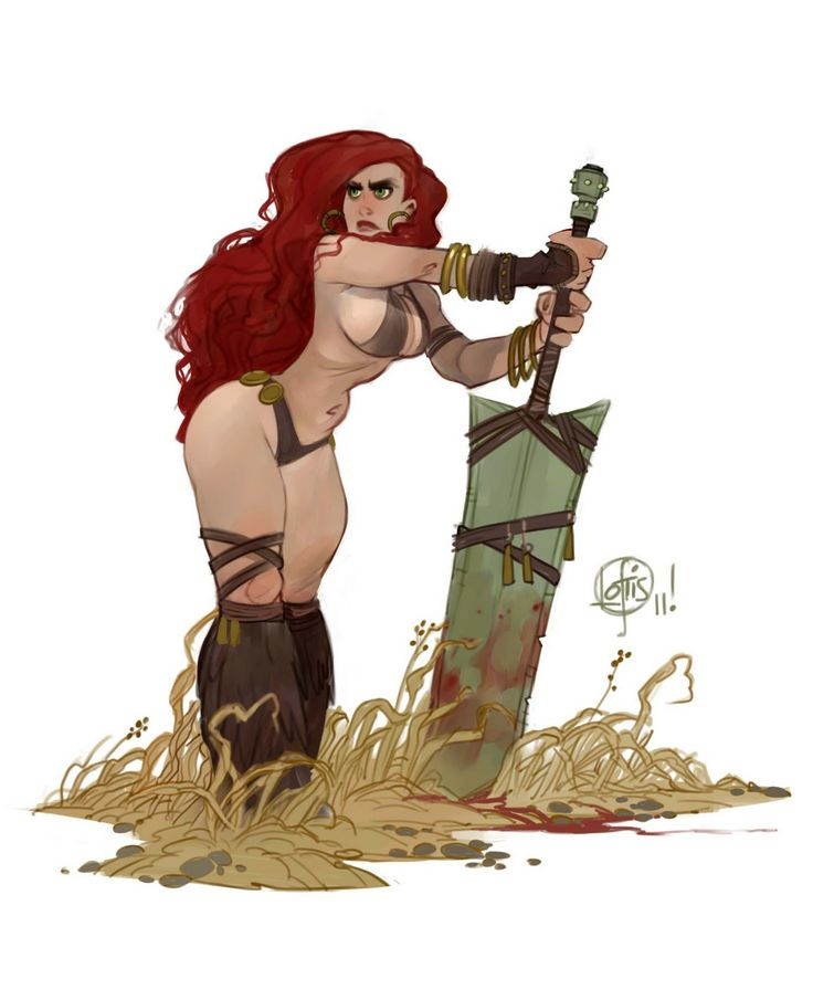 the best kind of barbarian is the curvy, red-headed kind. (diablo, anyone?)