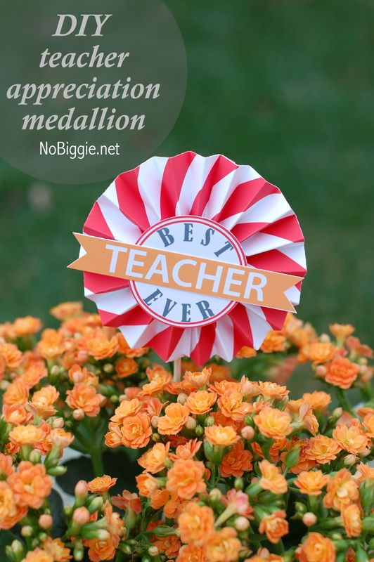 DIY teacher appreciation medallions 25+ More Teacher Appreciation Week Ideas | NoBiggie.net