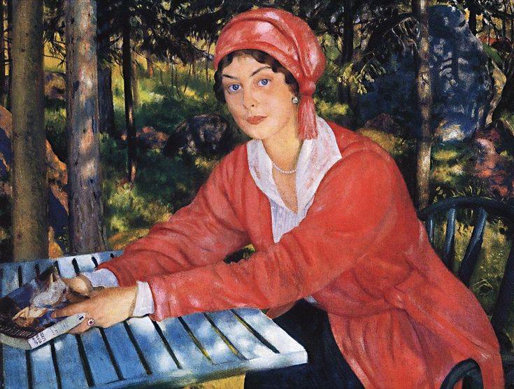 Portrait of Countess Grabowska, 1917  Boris Kustodiev