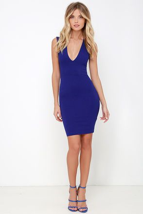 Love the Limelight Royal Blue Bodycon Dress at Lulus.com!