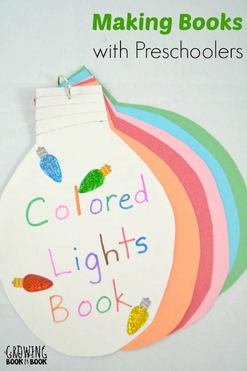 Making books with preschoolers is a great literacy experience for young children.