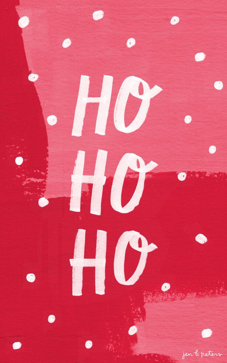 Новый год новогодняя заставка на телефон ho-ho-ho