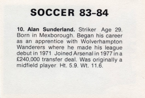 Example of the rear of a Soccer Stars '83'-'84 sticker