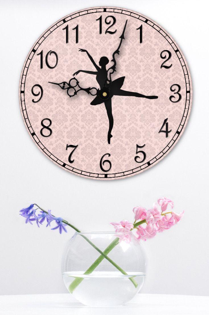 Ballerina Wall Clock Girls Room Decor Ballet Lover Gift Wall Clock Girls Room Decor Clock