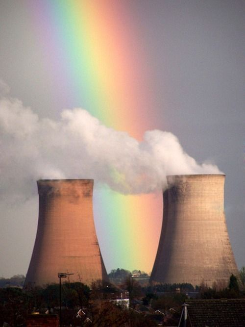 end of rainbow = nuclear power plant who knew?