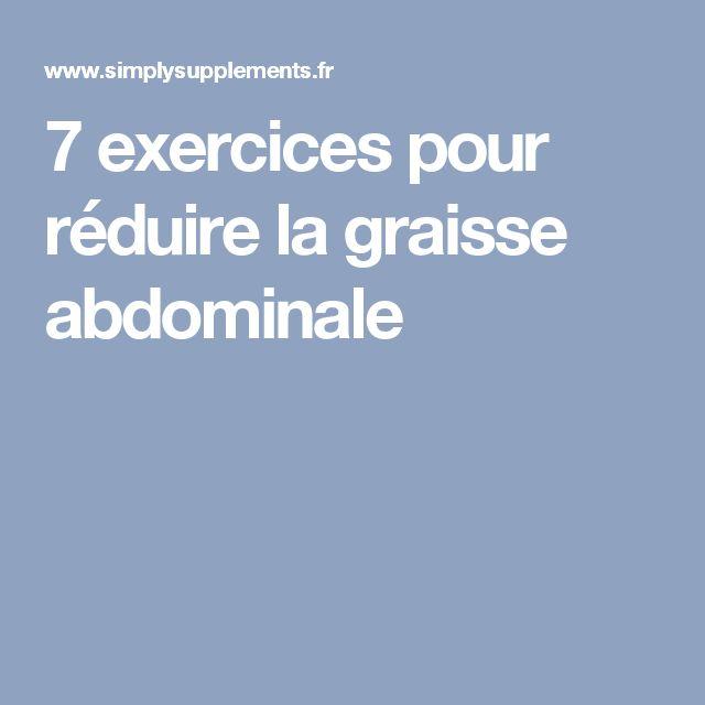 7 exercices pour réduire la graisse abdominale