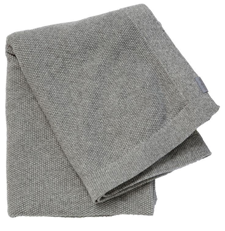SeedStitch blanket, light grey/silver