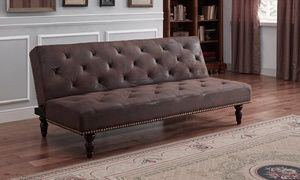 Groupon - Charles Victorian Premium Faux Leather Sofa Bed from £145 With Free Delivery (Up to 34% Off) . Groupon deal price: £180