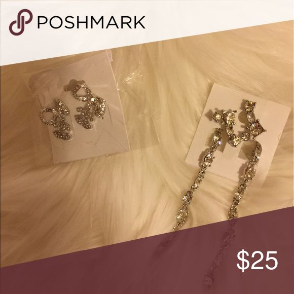 Fashion earrings It's very good price for these 2 sets. All brand new never worn Jewelry Earrings