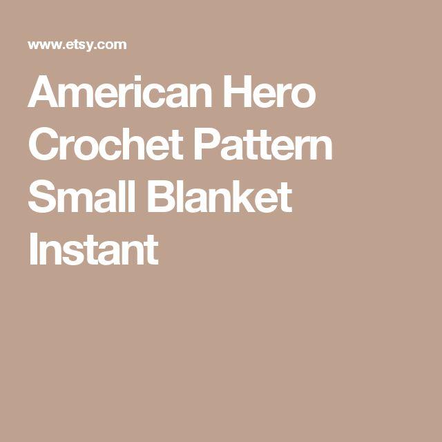 American Hero Crochet Pattern Small Blanket Instant