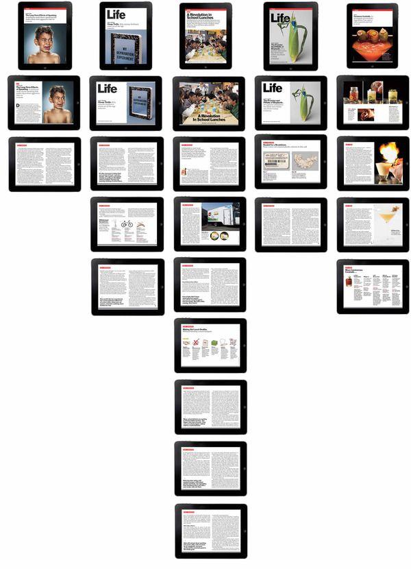 TIME magazine//iPad Layouts by Corliss Elizabeth Williams via Behance