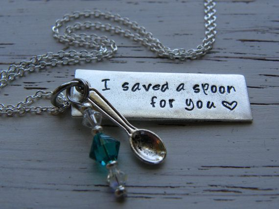 I saved a spoon for you  necklace  spoonie by WhisperingMetalworks, $36.00