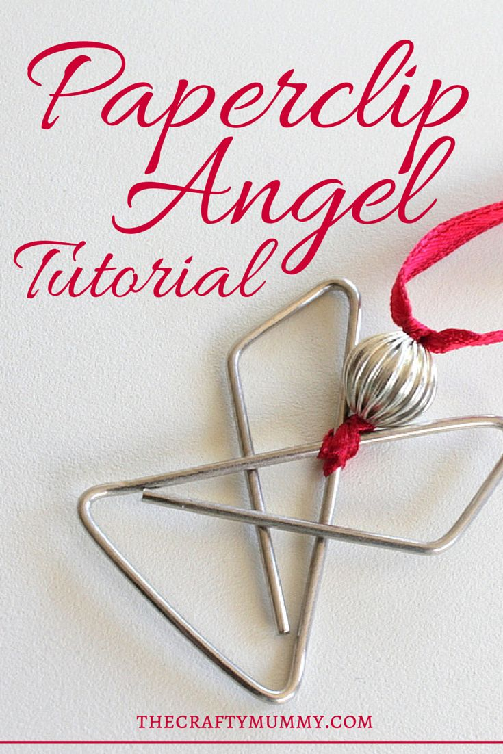 Tutorial: Paperclip Angel - The Crafty Mummy - These are so quick and easy! #angel #Christmas #crafts #tutorial