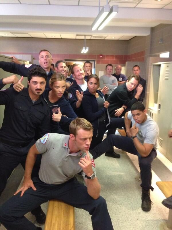 lauren german / jesse spencer / monica raymund / taylor kinney / chicago fire :-)