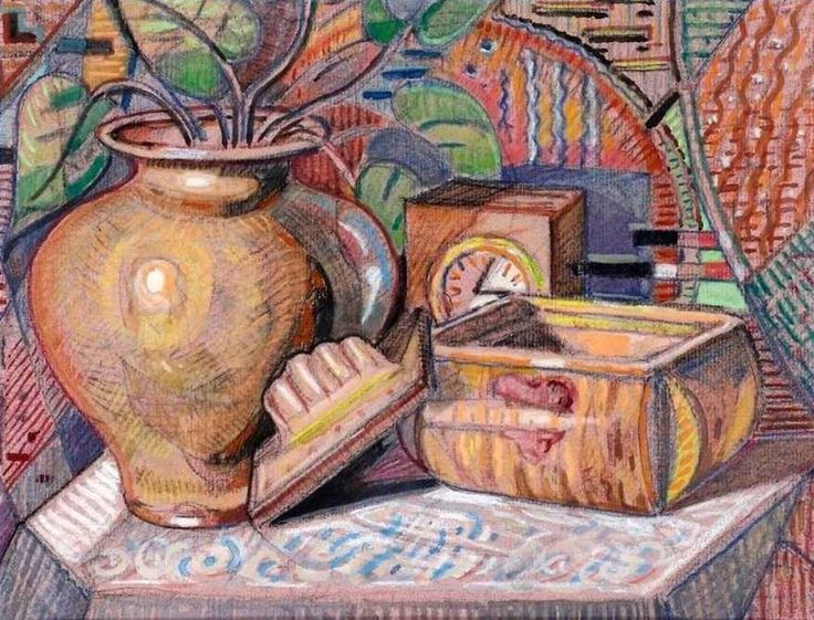 https://flic.kr/p/amKQwb | Iancu, Marcel (1895-1984) - Still Life with Various Items (Private Collection) | Pastel;    21 x 27 cm.  Marcel Iancu is remembered today as one of the most important Dada artists of Jewish-Romanian origin, a close friend to Tristan Tzara and one of the most interesting and original artists of the last century. Very much in touch with European art and experiments, mixing Romanian traditions, Jewish identity and avantgarde techniques and themes, Marcel Iancu was a…