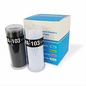 100PCS Micro Brush Swab for Eyelash Extension Removal(diameter1.2mm)(Random Color)
