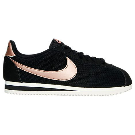 Women's Nike Cortez Leather Lux Casual Shoes - 861660 861660-002| Finish Line