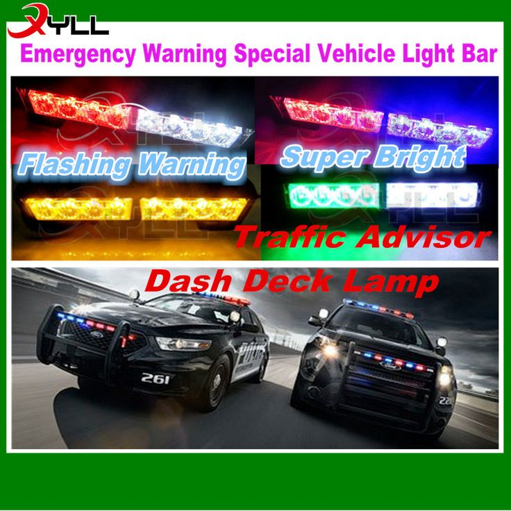 2 Head amber,red blue green white led traffic advisor advising emergency warning strobe flash light bar
