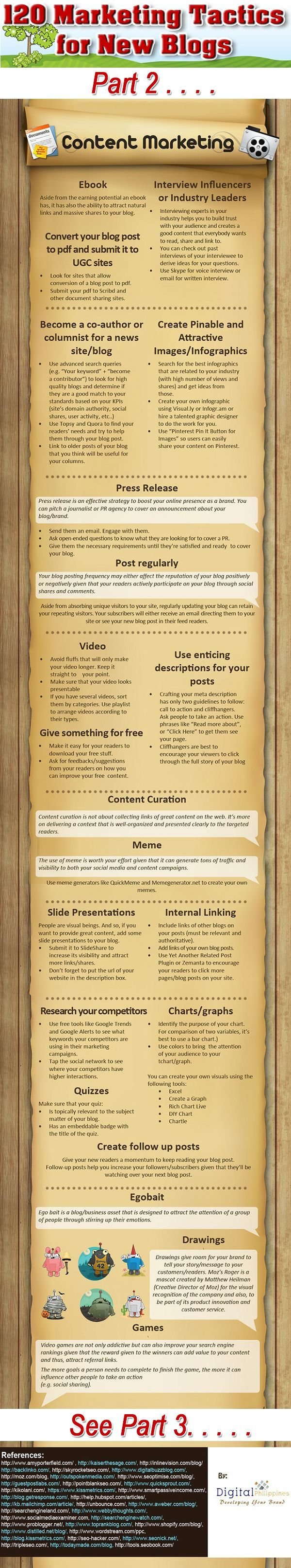 120 tips to promote your #Blog #business #socialmedia part 2 of a 9 part series. #infographic www.socialmediamamma.com
