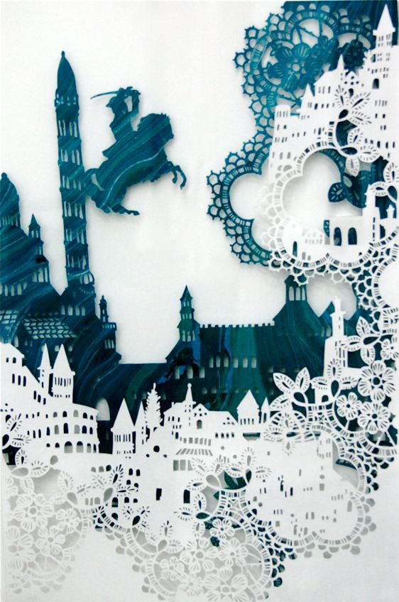 Amazing paper things by Emma van Leest. So. Cool. What can you do with paper? #cutpaper #papercraft #cutout