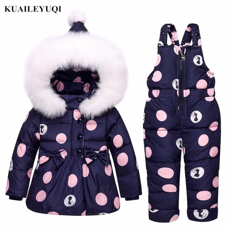 Детская одежда для девочек пальто детская теплая Зимний ...