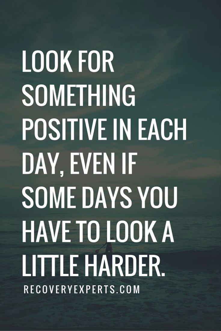 Sometimes this can be really hard, and some days I struggle. I write a gratitude journal every night, and try to list 3 good things that have happened to me in the day no matter how small. Doing this changes my perspective greatly.