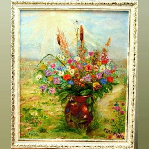 """Wild flowers"", oil on canvas"