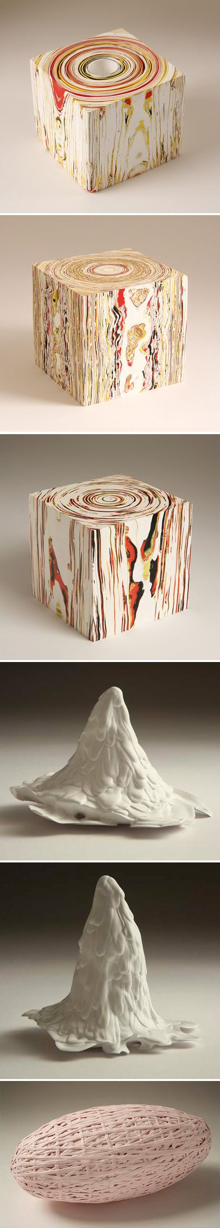 """Margie Livingston created this fantastic work, that she describes as """"both a three-dimensional painting and a sculpture made of paint."""" That's right these sculptures, or paintings, or sculptures, were created using only acrylic paint… layers and layers and layers and layers of hardened acrylic paint."""