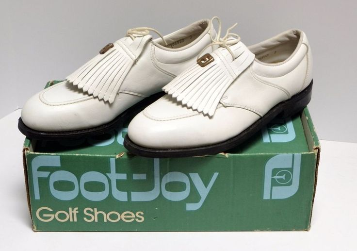 FootJoy NEW VINTAGE GOLF SHOES White Kilties 8D with Box Metal Spikes Foot Joy | Clothing, Shoes & Accessories, Men's Shoes, Athletic | eBay!