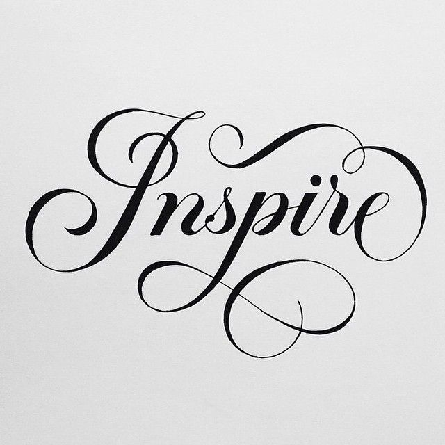 """Inspire"" by @tanyacherkiz #goodtype"