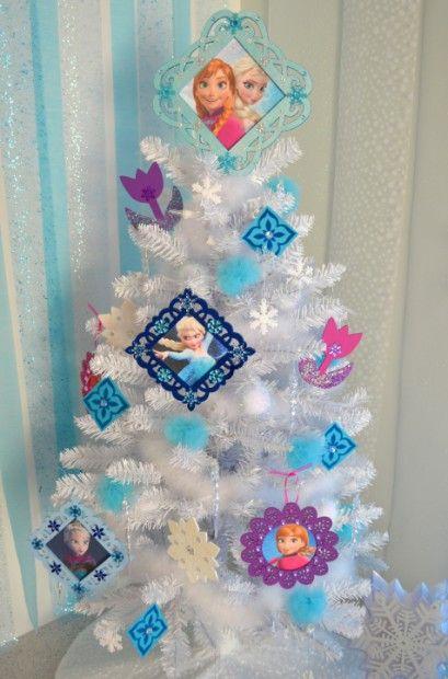 Disney Frozen White Christmas Tree decorating Ideas