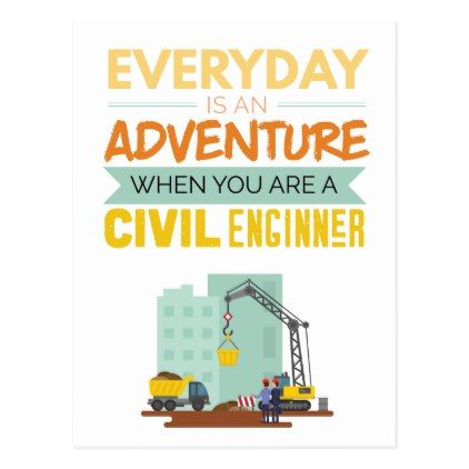 Everyday Is An Adventure Civil Engineer Funny Postcard - merry christmas postcards postal family xmas card holidays diy personalize