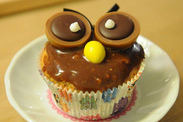 Toffifee-Eulen-Cupcakes