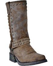 "Dingo Women's 11"" Tan Burnish w/ Strap Boot"