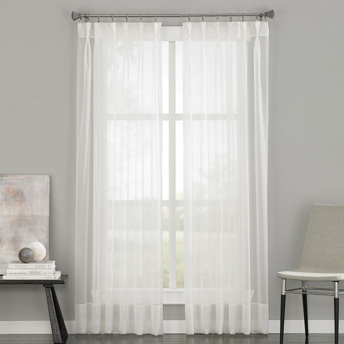Soho Voile Pinch Pleat Rod Pocket Window Curtain Panel Bed Bath
