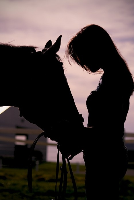 Jenny Anne with her horse Whispering Wind