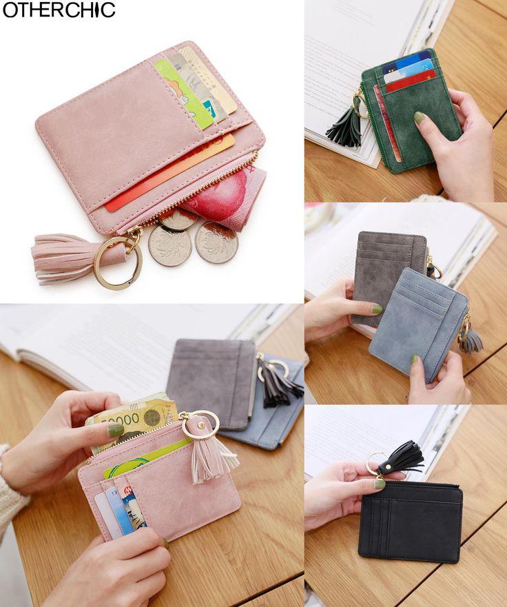 [Visit to Buy] OTHERCHIC Nubuck Leather Mini Tassel Women Card Holder Cute ID Key Card Holders Girl's Fringe Change Coin Purse Keychain 7N02-08 #Advertisement