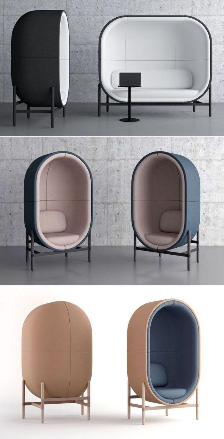 Kateryna Sokolova Designs Capsule Office Pod for Casala