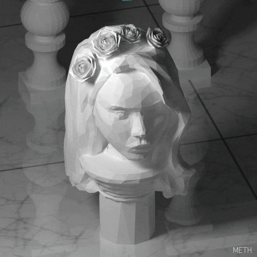 gif sculpture sea 3D lana del rey seapunk pop art Marble lowpoly ...